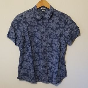 Izod Hawaiian Button Down Shirt